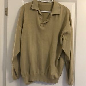 Men's tan sweater